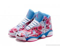 Air Jordan 13 GS floral white